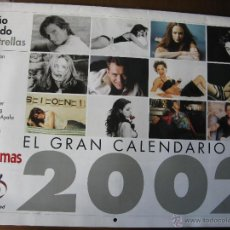 Cine: EL GRAN CALENDARIO DEL 2002. FOTOGRAMAS. NICOLE KIDMAN,GOYA TOLEDO,TOM CRUISE,PAZ VEGA,JOSH HARTNETT. Lote 51496049