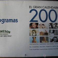 Cine: EL GRAN CALENDARIO DEL 2000. FOTOGRAMAS. AITANA SÁNCHEZ GIJÓN,NATALIE PORTMAN,ANTONIO BANDERAS, .... Lote 51496184