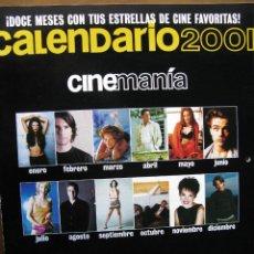 Cine: CALENDARIO 2001. CINEMANÍA. DOCE MESES CON TUS ESTRELLAS DE CINE FAVORITAS.. Lote 51496437