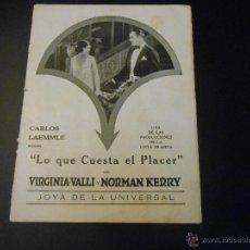 Cine: REVISTA ORIGINAL UNIVERSAL FILMS - 1925. Lote 51549538