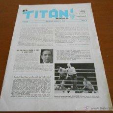 Cine: LOTE DE 4 REVISTAS - EL TITAN - REVISTA OFICIAL DE RADIO FILMS. Lote 51566507