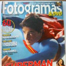 Cine: REVISTA DE CINE FOTOGRAMAS JULIO 2006-SUPERMAN-TOM HANKS-CARS. Lote 51599730