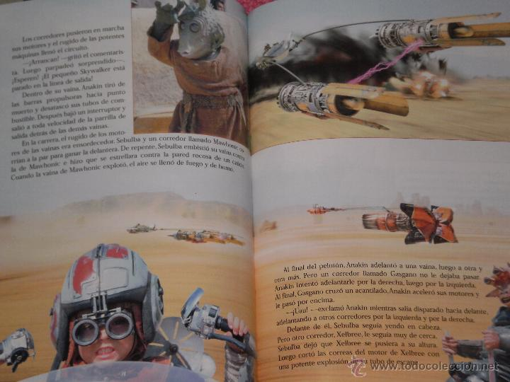 Cine: PUBLICACION STAR WARS EPISODIO I AMENAZA FANT , REPLETA DE FOTOGRAMAS COLOR . EDIC- GAVIOTA AÑO 1999 - Foto 2 - 51694500