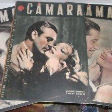 Cine: TRES EJEMPLARES DE LA REVISTA CINEMATOGRÁFICA ESPAÑOLA CÁMARA, ENERO Y JUNIO DE 1942 Y ABRIL DE 1943. Lote 51696372