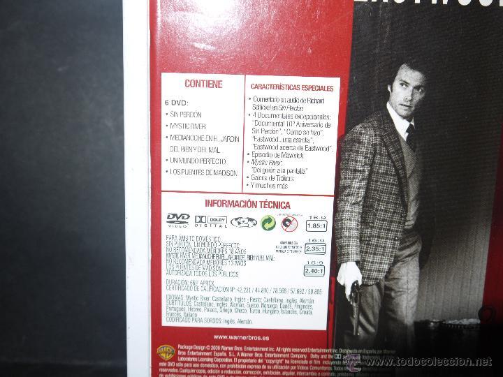 Cine: DVD, CLINT EASTWOOD,SIN PERDON,MYSTIC RIVER,MEDIANOCHE EN EL...,UN MUNDO PERFECTO,LOS PUENTES DE MAD - Foto 3 - 51700061