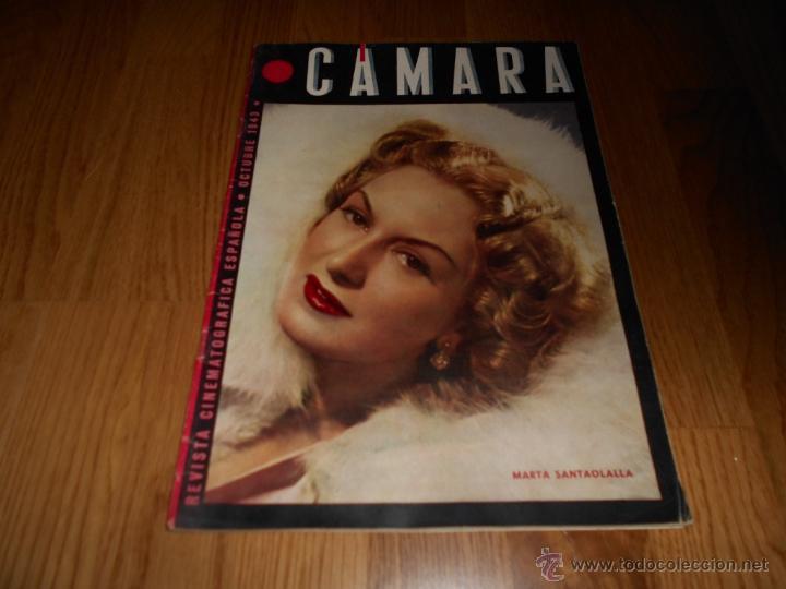 REVISTA DE CINE CAMARA Nº 25 OCTUBRE 1943 MARTA SANTAOLALLA JOAN BENNETT DECLARACIONES HEDY LAMARR (Cine - Revistas - Cámara)