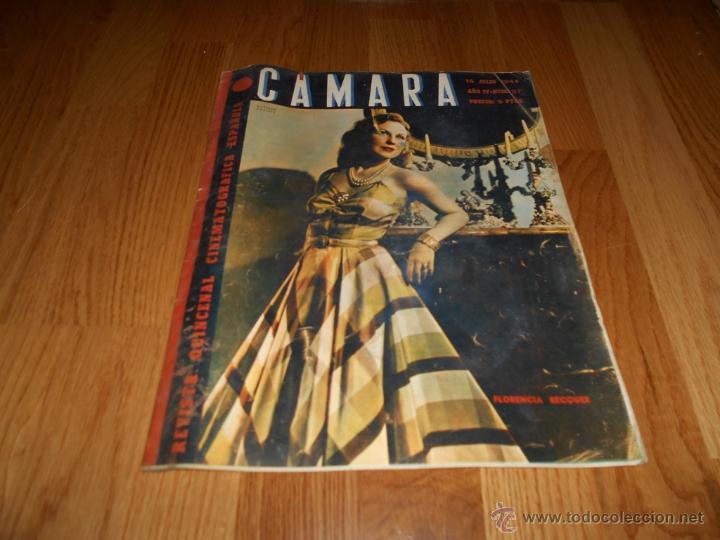 REVISTA DE CINE CAMARA Nº 37 JULIO 1944 FLORENCIA BECQUER GARY COOPER RITA HAYWORTH VIDA MYRNA LOY (Cine - Revistas - Cámara)