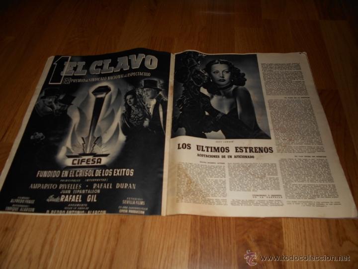 Cine: REVISTA DE CINE CAMARA Nº 37 JULIO 1944 FLORENCIA BECQUER GARY COOPER RITA HAYWORTH VIDA MYRNA LOY - Foto 2 - 51799942