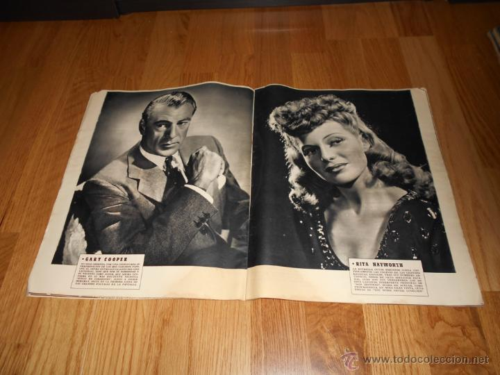 Cine: REVISTA DE CINE CAMARA Nº 37 JULIO 1944 FLORENCIA BECQUER GARY COOPER RITA HAYWORTH VIDA MYRNA LOY - Foto 4 - 51799942