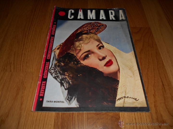 CAMARA. REVISTA CINEMATOGRÁFICA. 5 PTS. Nº 60. 1 DE JULIO DE 1945. SARA MONTIEL (Cine - Revistas - Cámara)