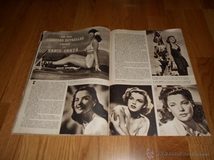 Cine: CAMARA. REVISTA CINEMATOGRÁFICA. 5 PTS. Nº 60. 1 DE JULIO DE 1945. SARA MONTIEL - Foto 3 - 51816275
