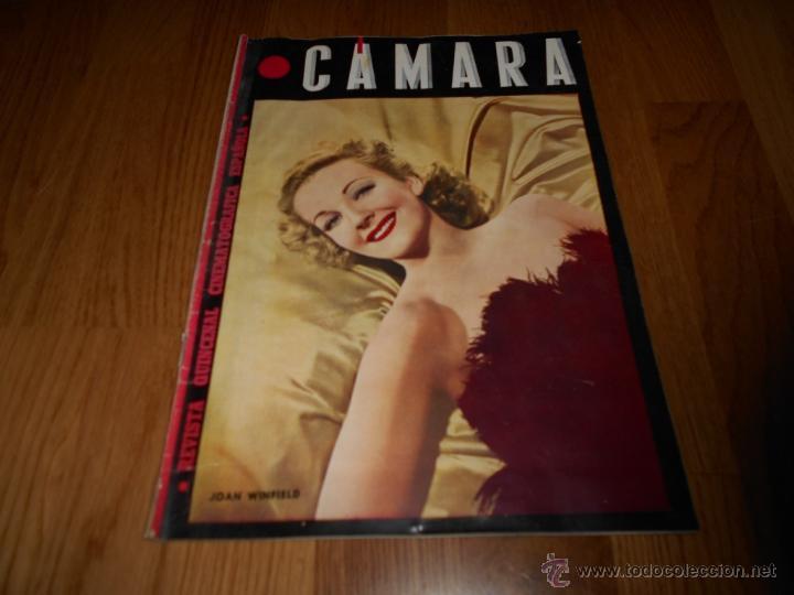 CAMARA. REVISTA CINEMATOGRÁFICA Nº59 JUNIO 1945 JOAN WINFIELD DOLORES DEL RIO Y GALLITO GARY COOPER (Cine - Revistas - Cámara)