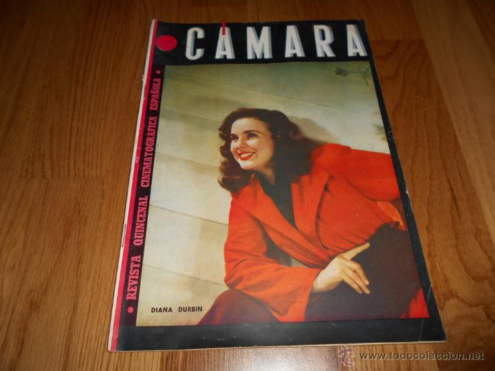 CAMARA. REVISTA CINEMATOGRÁFICA Nº50 FEBRERO 1945 DIANA DURBIN CHARLOT (Cine - Revistas - Cámara)