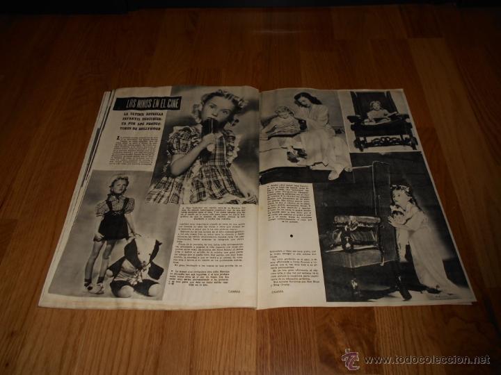 Cine: CAMARA. REVISTA CINEMATOGRÁFICA Nº93 NOVIEMBRE 1946 JUNE LOCKHART NIÑOS EN EL CINE - Foto 3 - 51817794