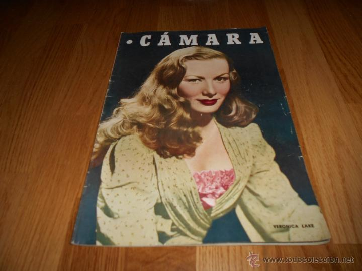 CAMARA. REVISTA CINEMATOGRÁFICA Nº132 JULIO 1948 VERONICA LAKE JORGE NEGRETE BIOGRAFIA DISNEY (Cine - Revistas - Cámara)