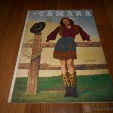 Cine: CAMARA. REVISTA CINEMATOGRÁFICA Nº166 DICIEMBRE 1949 GAIL RUSSELL JUANA DE ARCO BERGMAN DORIS DAY. Lote 231304035