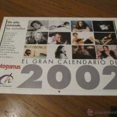 Cine: CALENDARIO REVISTA FOTOGRAMAS 2002. NICOLE KIDMAN, TOM CRUISE, JUDE LAW, ANGELINA JOLIE, BRAD PITT. Lote 51921090