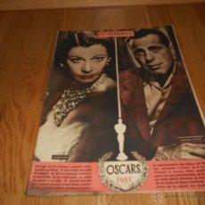 Cine: REVISTA CINE FOTOGRAMAS , AÑO 1952 - Nº176 , VIVIEN LEIGH Y HUMPHREY BOGART , ENTREGA DE LOS OSCAR. Lote 51924173