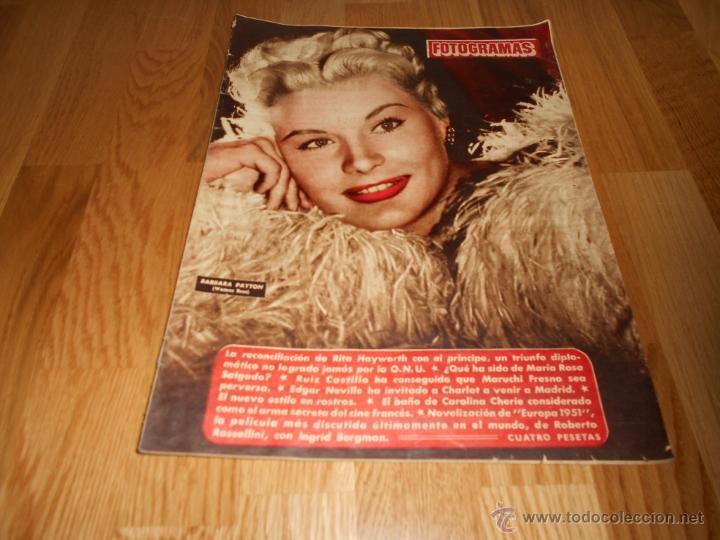 REVISTA CINE FOTOGRAMAS , AÑO 1952 - Nº203 , BARBARA PAYTON - LA HERMANA SAN SULPICIO (Cine - Revistas - Fotogramas)
