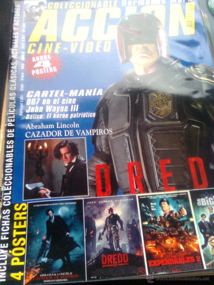 REVISTA ACCIÓN Nº 209 - 2012 - DREDD, LINCOLN CAZADOR DE VAMPIROS, HERMANOS MARX, DOSSIER 007... (Cine - Revistas - Acción)