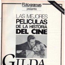 Cine: COLECCIONABLE LAS MEJORES PELÍCULAS, GILDA, CON GENN FORD Y RITA HAYWORTH. Lote 51930440