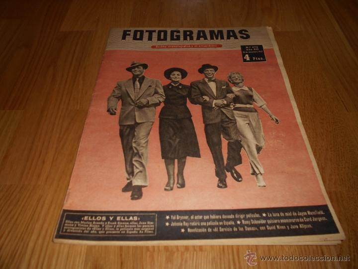 FOTOGRAMAS Nº472 1957 REVISTA CINEMATOGRÁFICA YUL BRYNNER ROMY SCHNEIDER DAVID NIVEN (Cine - Revistas - Fotogramas)
