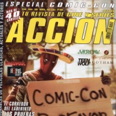 Cine: ACCION N. 1509 SEPTIEMBRE 2015 - EN PORTADA: ESPECIAL COMIC-CON (NUEVA). Lote 179249248