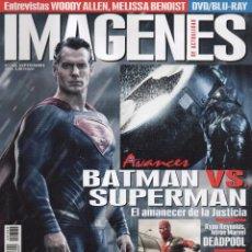 Cine: IMAGENES DE ACTUALIDAD N. 360 SEPTIEMBRE 2015 - EN PORTADA: BATMAN VS. SUPERMAN (NUEVA). Lote 52009178