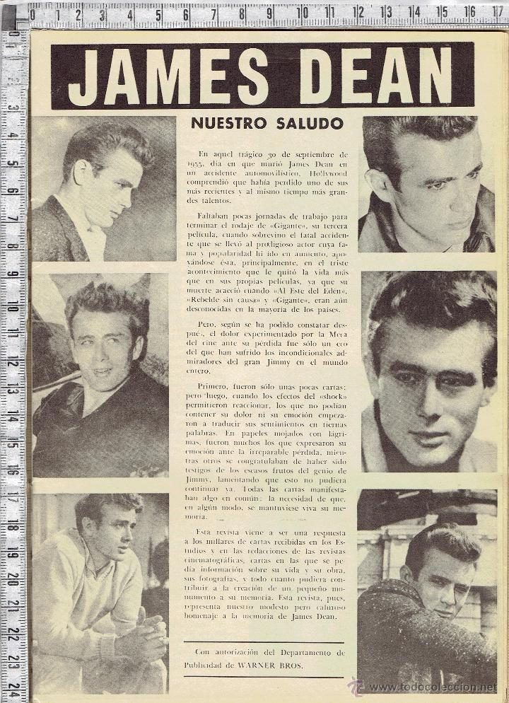 Cine: REVISTA CINE CINECOLOR MONOGRAFICA DE JAMES DEAN. - Foto 2 - 52282426