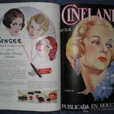 Cine: CINELANDIA. MARZO A DICIEMBRE DE 1931. PUBLICADA EN HOLLYWOOD. . Lote 52299824