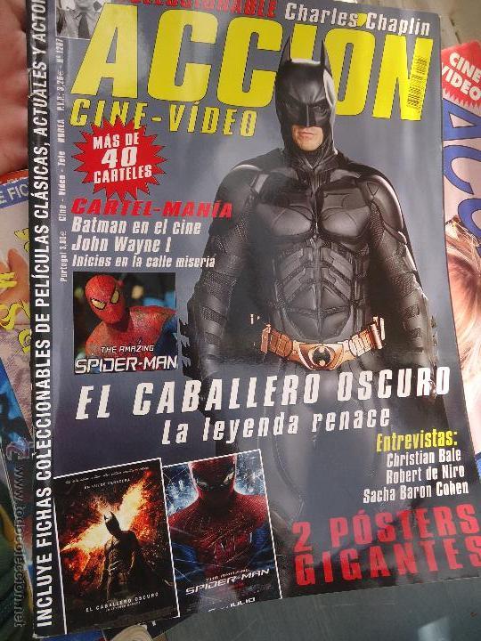 REVISTA CINE Y VIDEO - CON POSTERS CENTRAL -PORTADA BATMAN , ENTREVISTA ROBERT DE NIRO.... (Cine - Revistas - Acción)
