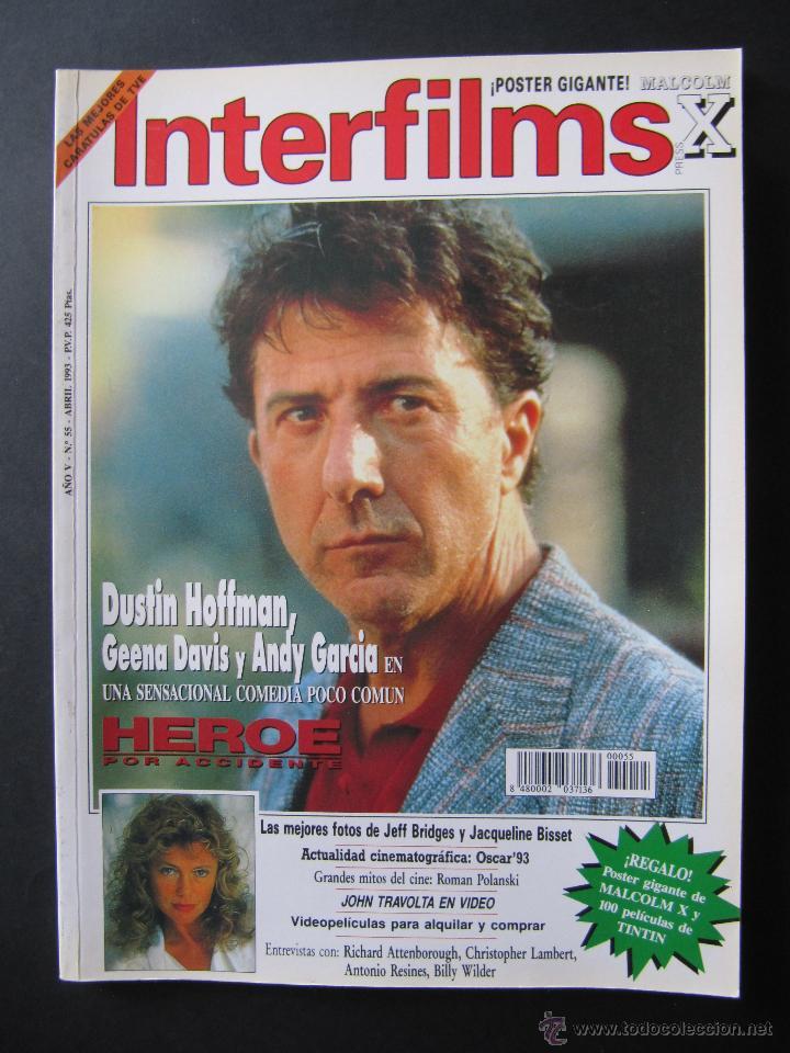 REVISTA INTERFILMS. Nº 55. ABRIL 1993. REPORTAJE JOHN TRAVOLTA. (Cine - Revistas - Interfilms)
