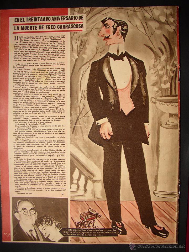 Cine: REVISTA LA CODORNIZ , MONOGRAFICO DEDICADO AL CINE , Nº 77, AÑO 1942 - Foto 7 - 52602725