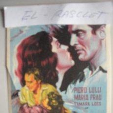 Cine: FOLLETO DE MANO - DE - ODIO EN LAS CUMBRES - PIERO LULLI - MARIA FRAU - TAMARA LEES -. Lote 52633634