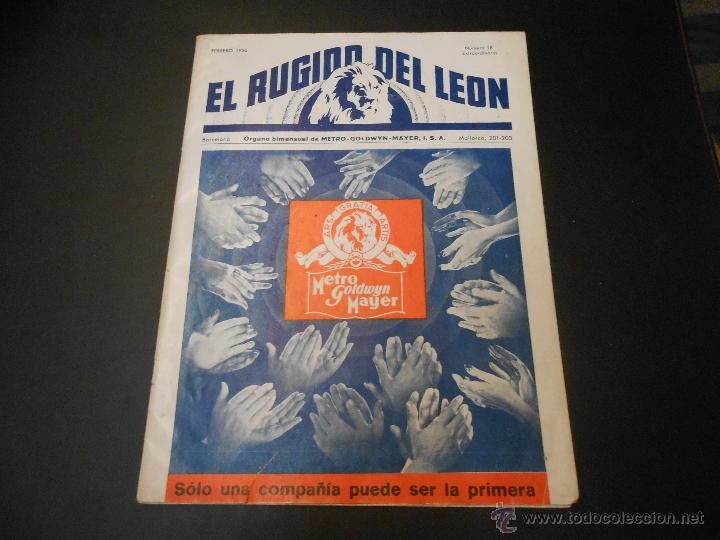 EL RUGIDO DEL LEON - NUMERO EXTRAORDINARIO DE 1936 - JOYAS DEL SEPTIMO ARTE EN EL INTERIOR (Cine - Revistas - Otros)