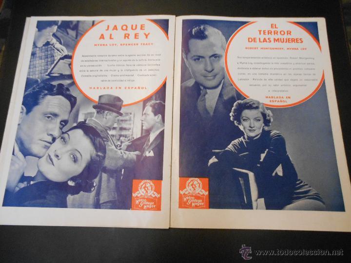 Cine: EL RUGIDO DEL LEON - NUMERO EXTRAORDINARIO DE 1936 - JOYAS DEL SEPTIMO ARTE EN EL INTERIOR - Foto 16 - 52640178