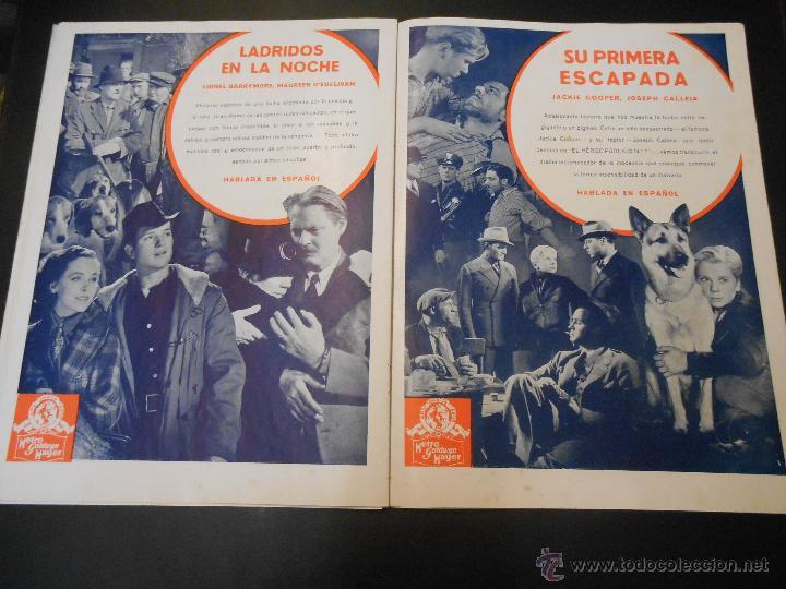 Cine: EL RUGIDO DEL LEON - NUMERO EXTRAORDINARIO DE 1936 - JOYAS DEL SEPTIMO ARTE EN EL INTERIOR - Foto 19 - 52640178