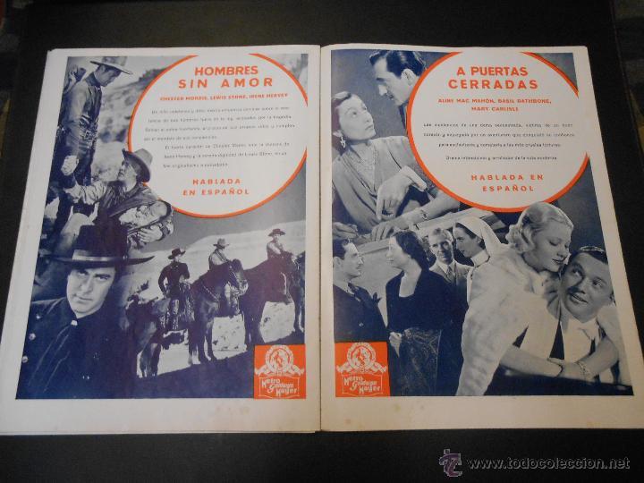 Cine: EL RUGIDO DEL LEON - NUMERO EXTRAORDINARIO DE 1936 - JOYAS DEL SEPTIMO ARTE EN EL INTERIOR - Foto 20 - 52640178