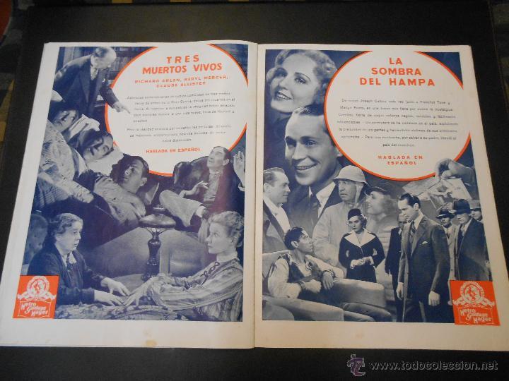 Cine: EL RUGIDO DEL LEON - NUMERO EXTRAORDINARIO DE 1936 - JOYAS DEL SEPTIMO ARTE EN EL INTERIOR - Foto 22 - 52640178