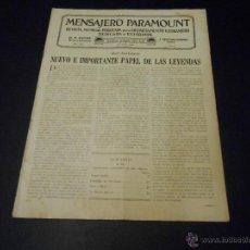 Cine: MENSAJERO PARAMOUNT - REVISTA ORIGINAL DE AGOSTO DE 1930. Lote 52664402