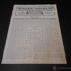 Cine: MENSAJERO PARAMOUNT - REVISTA ORIGINAL DE JUNIO DE 1929. Lote 52664508
