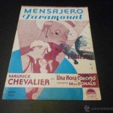 Cine: MENSAJERO PARAMOUNT - REVISTA ORIGINAL DE MAYO DE 1932. Lote 52664959