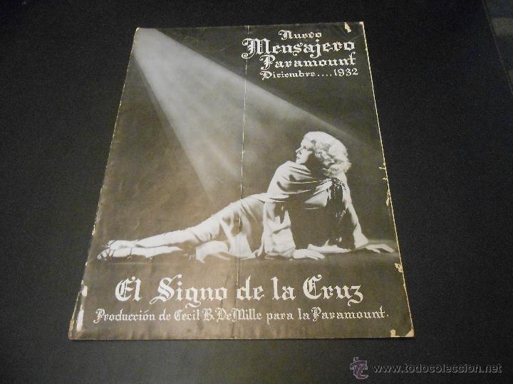 NUEVO MENSAJERO PARAMOUNT - REVISTA ORIGINAL DE DICIEMBRE DE 1932 (Cine - Revistas - Otros)