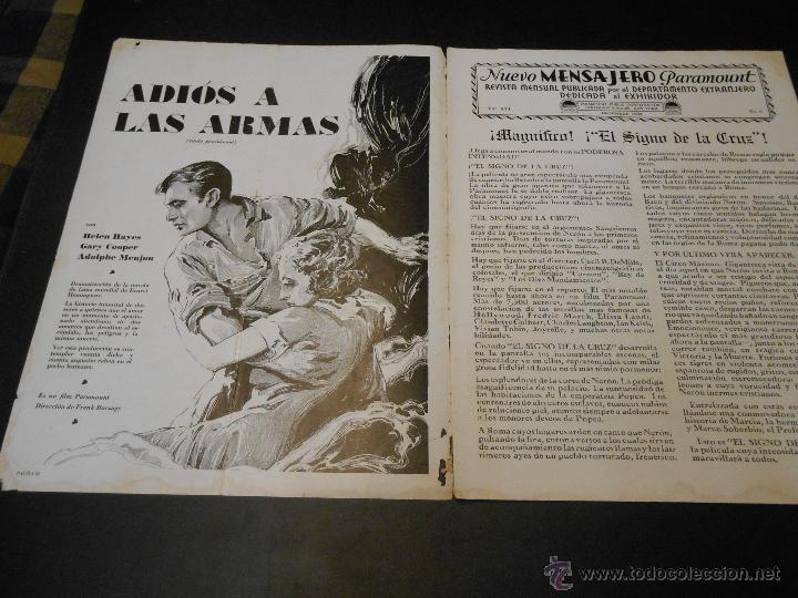 Cine: NUEVO MENSAJERO PARAMOUNT - REVISTA ORIGINAL DE DICIEMBRE DE 1932 - Foto 2 - 52665199