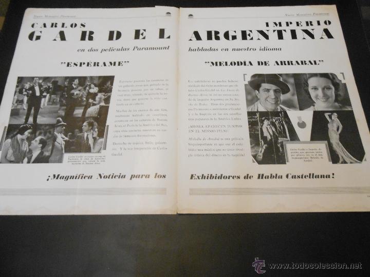 Cine: NUEVO MENSAJERO PARAMOUNT - REVISTA ORIGINAL DE DICIEMBRE DE 1932 - Foto 3 - 52665199