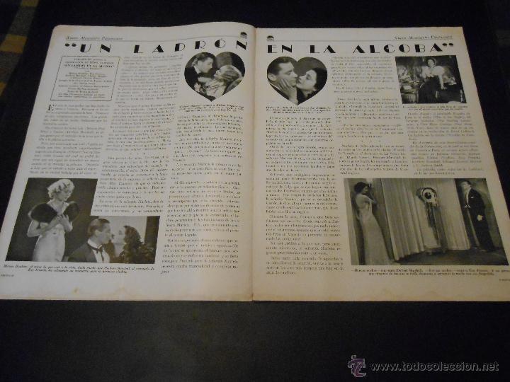 Cine: NUEVO MENSAJERO PARAMOUNT - REVISTA ORIGINAL DE DICIEMBRE DE 1932 - Foto 4 - 52665199