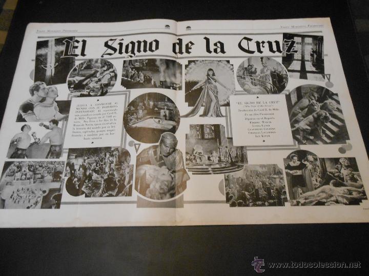 Cine: NUEVO MENSAJERO PARAMOUNT - REVISTA ORIGINAL DE DICIEMBRE DE 1932 - Foto 5 - 52665199