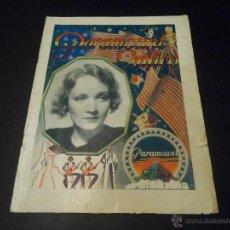 Cine: PARAMOUNT GRAFICO - REVISTA ORIGINAL DE OCTUBRE DE 1931. Lote 52666493