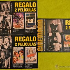 Cine: 3 SUPLEMENTOS DE CINEMANÍA NÚMEROS 143-144-145, COLECCIÓN CLÁSICOS OCULTOS NÚMEROS 4-5-6.. Lote 52668234