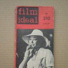 Cine: FILM IDEAL - NO 210 - RAUL WALSH, ASTRUC, ROBERTO ROSELLINI:DOCUMENTACION ESQUEMA CRITICAS -1969. Lote 52728437